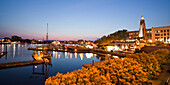 Victoria harbour Panorama at twilight in Victoria, Vancouver Island, Canada, North America