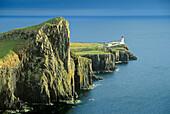 Lighthouse at Neist Point, Skye, Inner Hebrides, Scotland, Great Britain, Europe