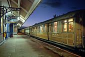 Luxury train The Royal Scotsman, Taynuilt Railway station, West Highland Line, Taynuilt, Scotland, Great Britain, Europe