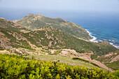 Wild coast between Bosa and Alghero, Sardinia, Italy, Europe