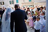 Wedding at Grado cathedral, Udine province, Friuli-Venezia Giulia, Italy