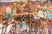 Diego Rivera's mural Totonac Civilization, El Tajin (1950) in the national palace of Mexico City, Mexico D.F., Mexico