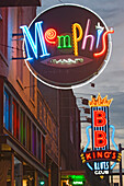 Blues clubs on Beale Street, Memphis, Tennessee, USA
