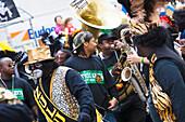 Carnival Parade on Mardi Gras, French Quarter, New Orleans, Louisiana, USA