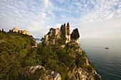 Castle ruins and Duino castle, Trieste, Friuli-Venezia Giulia, Upper Italy, Italy