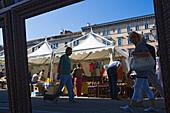 Flea market along Canale Grande, Trieste, Friuli-Venezia Giulia, Upper Italy, Italy