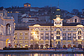 Piazza dell'Unita d'Italia and the city hall, Trieste, Friuli-Venezia Giulia, Upper Italy, Italy