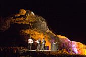 Concert in volcanic cave, Cueva de los Verdes, concert hall, architect Cesar Manrique, Lanzarote, Canary Islands, Spain, Europe