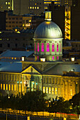 Montreal,  Quebec,  Canada,  Domed,  Marche Bonsecoursd,  Old Port and sky line of new city