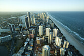 View of Surfers Paradise from the top of Q1 building,  Gold Coast,  Australia