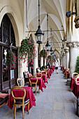 Cloth Hall, the world´s oldest shopping mall,  Renaissance edifice,  1555, Cracow,  Krakow, Poland