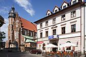 Kazimierz historic district, Wolnica Square, Corpus Christi Church, former Jewish Quarter, Cracow,  Krakow, Poland