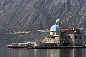 Perast, islet of Our Lady of the Rock, Our Lady of the Rock church, Kotor Bay, Montenegro