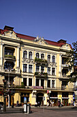 Lviv, Lvov, Prospect Svobody, Freedom Boulevard, typical buildings, Western Ukraine