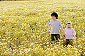 boy, boys, Brother, Brothers, Calm, Calmness, Caucasian, Caucasians, Child, child, childhood, Children, children, Color, Colour, Companion, Companions, Contemporary, Country, Countryside, Daytime, exterior, families, family, Female, Flower, Flowers, Girl,