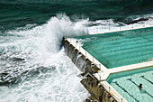 Australia - New South Wales (NSW) - Sydney: World famous Bondi Beach - View of the Bondi Icebergs Swimming Club Pool