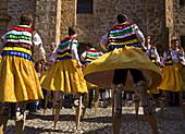 Danza de los Zancos folk dance,  Anguiano. La Rioja,  Spain