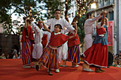 Traditional Folklore Dance Performance at the Madeira Wine Festival, Funchal, Madeira, Portugal