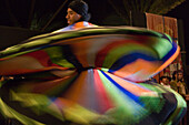 Whirling Derwish dance performance at the Columbus Festival Celebration, Vila Baleira, Porto Santo, near Madeira, Portugal