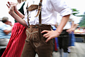 Local costume group dancing, Styria, Austria