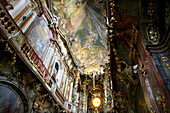 Ceiling fresco, Asam Church of St. Johann Nepomuk, Munich, Bavaria, Germany