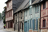 Timbered Houses In The Historically Listed Neighbourhood Of Vaucelles, Pont-L'Eveque, Calvados (14), Normandy, France