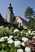 Low Angle Shot Of The Thiron-Gardais Abbey And Gardens, Eure-Et-Loir (28), France