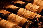 Cellar Full Of Bordeaux Wine, Hotel Restaurant, Le Grand Monarque, Chartres, Eure-Et-Loir (28), France