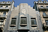 Facade Of The Art Deco Building Of The Depeche Du Midi Newspaper, Toulouse, Haute-Garonne (31), France