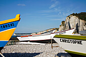 The Colorful Fishing Boats In The Little Fishing Port Of Yport, Seine-Maritime (76), Normandy, France