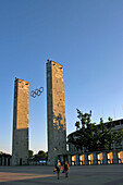 Olympic Stadium, Olympiastadion Built For The 1936 Olympic Games, Fascist Architecture By Werner March, Berlin, Germany