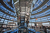 German Parliament, Reichstag, German Bundestag With Its Dome, Refurbished By The British Architect Norman Foster, Pritzker Laureate (Nobel Prize For Architecture), Berlin, Germany