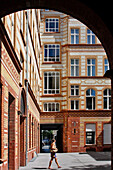 Interior Courtyard Of Some Buildings, Oranienburger Strasse, Mitte, Berlin, Germany