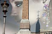 Luxury Advertising Masking The Renovation Work On The Trinit® Dei Monti Church, Piazza Di Spagna, Rome, Italy