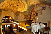 Alle Murate, Palazzo Dell'Arte Dei Giudici E Notai, A Museum During The Day Known For Its Frescoes Of Dante And 14Th Century Poets, In The Evening A Gourmet Restaurant With Tuscan Specialties, Innovative Italian Cuisine, Florence, Tuscany, Italy