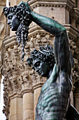 Perseus By Benvenuto Cellini, Statue In Bronze, Statues In The Loggia Dei Lanzi In Front Of The Palazzo Vecchio, Piazza Della Signoria, Florence, Tuscany, Italy