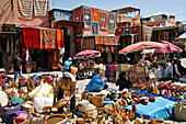 Souk, Bazaar, Market In The Streets, Marrakech, Morocco, Maghrib, North Africa