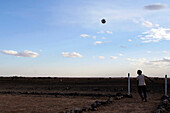Nomad Children Playing Soccer, Association For The Development Of Nomad Life In The Zagora Region, Berber People, Morocco, Maghrib, North Africa