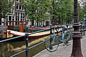 Houseboat On The Canals, Amsterdam, Netherlands