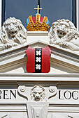The Three Crosses, Emblem Of The City Of Amsterdam, Netherlands, Holland