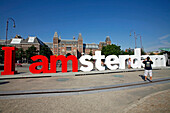 I Amsterdam', Touristic Slogan Of The City In Front Of The Rijksmuseum Amsterdam, National Museum Of Art And History