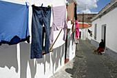 Typical Little Lane Of Serpa, Alentejo, Portugal