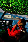 Training Pilots Of The Emergency Services In A Flight Simulator Of The Ec145 Helicopter, Developed By The Thales Corporation, Command Base Of The Helicopter Group Of The Emergency Services, Nimes Garons, Gard (30)