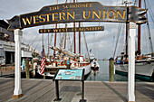 Wooden Sailboat, Historic Port Of Key West, Key West Historic Seaport, Florida, Usa