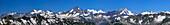 Panoramic view of Bernese Alps, Switzerland