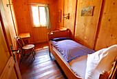 Single room in hut Berliner Huette, Zillertal, Zillertal Alps, Tyrol, Austria