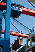 container, gantry crane, port, Hamburg, Germany