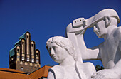 Darmstadt, statues, Mathildenhoehe, Art Nouveau, Hesse, Germany