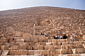 Tourists at Entrance of Pyramid of Cheops, Egypt, Cairo