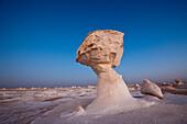 Sundown in White Desert National Park, Egypt, Libyan Desert